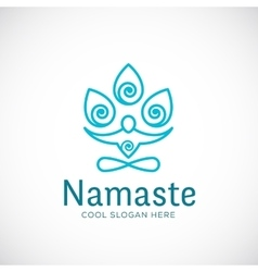 Yoga Namaste or Zen Meditation Abstract vector