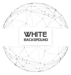 dots with connection in circle frame white backgro vector image