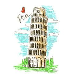 Pisa tower vector image vector image