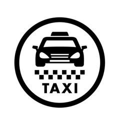 Taxi cab services icon vector