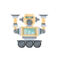 Drawing robotic mechanical engineering vector