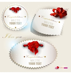 gift label set vector image