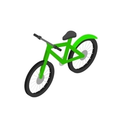 Green bicycle icon isometric 3d style vector image