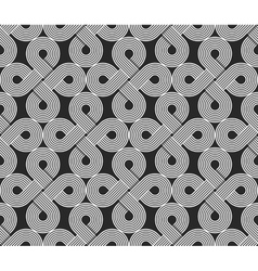 Loops seamless pattern repeating symmetry vector image