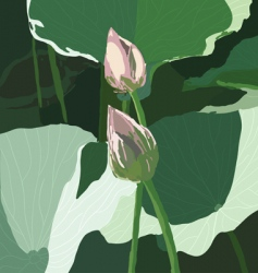 realistic oriental lotus a flower vector image