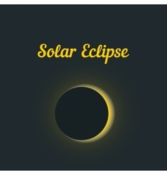 solar eclipse with yellow glow vector image
