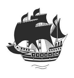 The ship logo or emblem for companies vector image