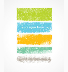 eco grunge organic banner backgrounds rough vector image vector image
