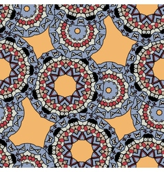 Indian ornament kaleidoscopic flora pattern vector image vector image