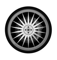 sport car titanium rim icon vector image vector image