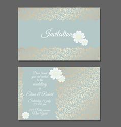 vintage wedding invitation templates cover design vector image vector image