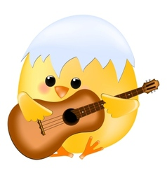 Chick with guitar vector image