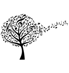 music tree with notes vector image vector image