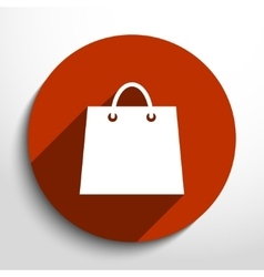 shopping basket web flat icon vector image