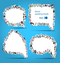 talk bubbles of letters from newspaper vector image