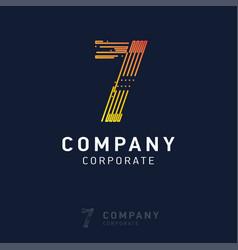 7 company logo design vector image
