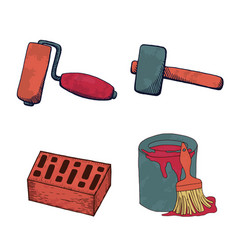 a set of construction tools vector image