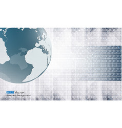 abstract binary code and world vector image