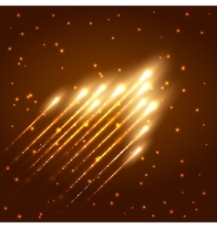 Abstract shining meteor background vector image