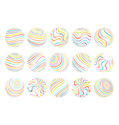 abstract waves flowing spheres art design template vector image