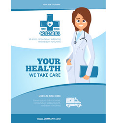 advertising medical flyer brochure cover layout vector image
