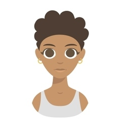 Afro american girl vector image