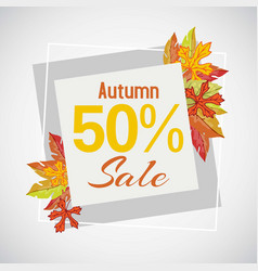 autumn sale 50 discount banner vector image