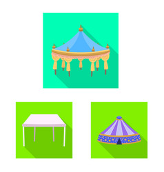 Awning and shelter symbol vector