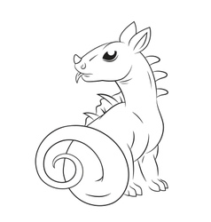 Baby dragon vector image