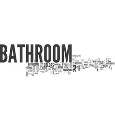 bathroom from over the moon part one text word vector image