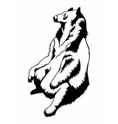 bear041 vector image