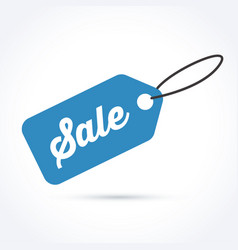 blue sale tag vector image