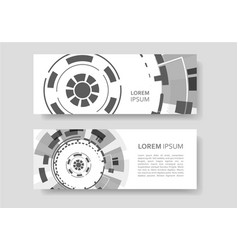 brochure with abstract round background technology vector image
