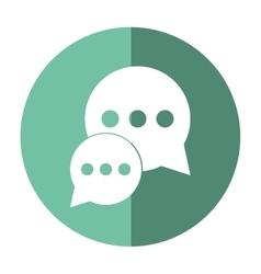 bubble talk dialog chatting social media green vector image