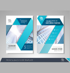 business flyer cover design vector image