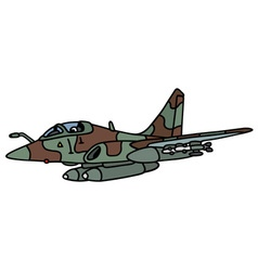 Camouflage fighter vector image