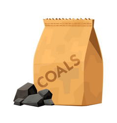 Charcoal bag for barbecue grill cartoon vector