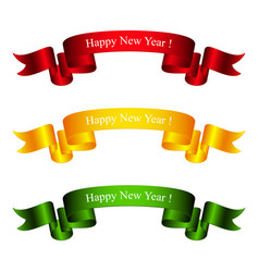 colorful bright banners happy new year vector image