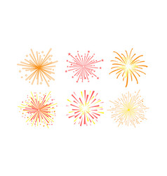colorful fireworks set design element can be used vector image