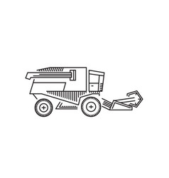 combine harvester icon outline vector image