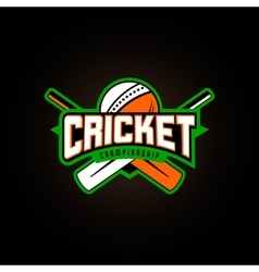 Cricket sport logo vector
