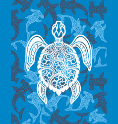 Decorative turtle vector