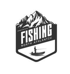 Fishing logo fresh seafood template design vector