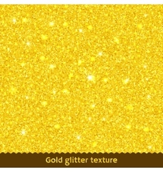 Gold glitter texture or background vector