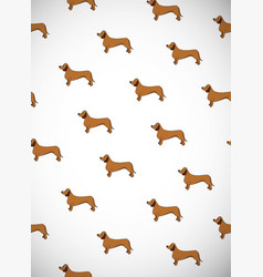 greeting card with cute cartoon dogs breed vector image