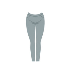 Grey female leggins fashion women clothes vector