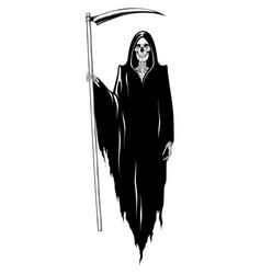 grim reaper with scyposing vector image