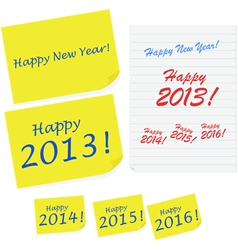Happy New Year notes vector image