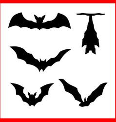 Icon silhouette bat vector