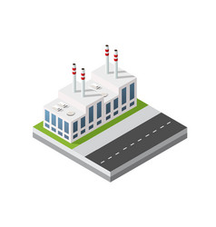 isometric 3d city module industrial urban factory vector image